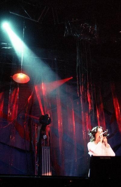 Björk en el Festival Independiente de Benicàssim 1998. Nikon f 401 . Película Fuji 800
